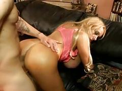 Gigantic fake tits on a blonde milf doing sex tubes