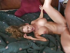Wife with big tits takes cock and cum from new man tubes