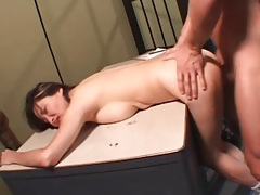Tight Asian pussy fucked in the doggystyle position tubes