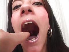 Pierced nipples girl in stockings sucks him in POV tubes