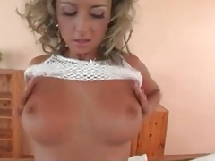 Sensual striptease leads to hot blowjob tubes