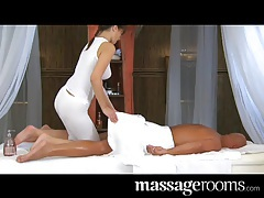Massage Rooms Tender loving care for his very big cock tubes