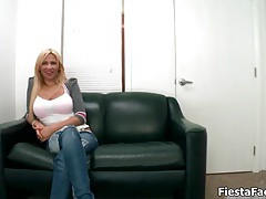 Busty blonde slut gets horny getting her cunt licked and fucked hard and deep tubes