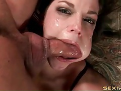 Bobbi Starr facefuck is incredibly messy tubes