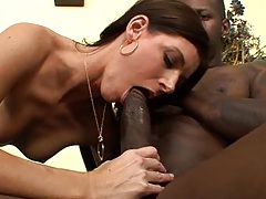 India Summer takes a big cock in her tiny hairy twat! tubes