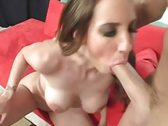 Blowjob and ball sucking from girl he fucks hard tubes