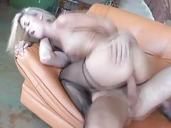 Dude blows his thick load into her pussy tubes