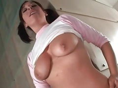 Cutie in pink panties sucks a dick tubes