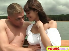 Young busty brunette loves fat dicks tubes