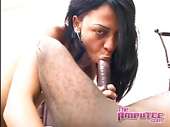 Amputated guy fucks skinny Latina tubes
