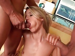 Monica sweetheart sucks dicks in threesome tubes