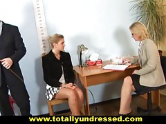 Hot teen secretary gets dildo job interview tubes