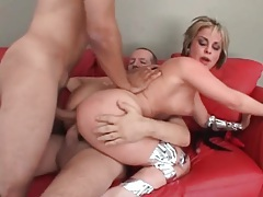 Sexy double penetration of a big ass chick tubes