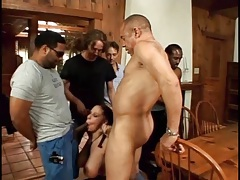 Gianna michaels sucks on lots of hard dicks tubes