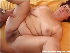 Fat hairy chick fucked in her hot pussy tubes