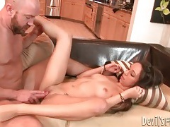 She groans and grinds with big cock in her cunt tubes