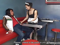 Maria ozawa amazing blowjob in maid uniform tubes