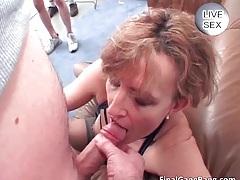 Nasty hot big ass nice brunette milf slut sucking big cock and gets fucked hard tubes