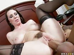 Milf with curves fucked in her sexy stockings tubes