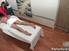 Sexy asian slut gets horny rubbing a guy during a massage tubes