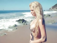 Kristen nicole is a hot babe on the beach tubes
