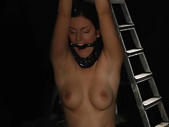 Hardcore woman caught in slavery tubes