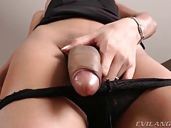 Perky tits asian shemale offers close up tease tube