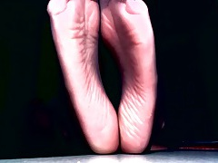 Sexy feet tease with sheer toes and wrinkled soles tubes
