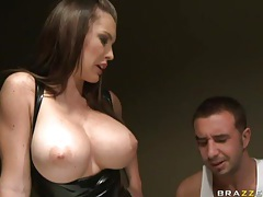 Enchanted by her big tits and fucking the latex slut tubes