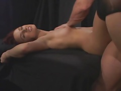 Footjob foreplay and good sex with redhead tubes