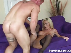 Huge ass blonde fucked very hard and also got a facial tubes