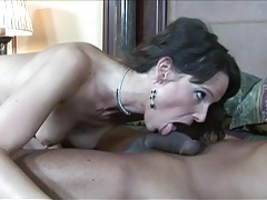 Tattooed mom fucked by black cock that pounds her tubes