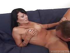 Milf is remarkably beautiful sucking dick tubes