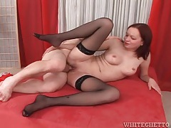 Young lady in black stockings fucked tubes