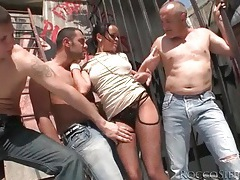 Big titty girl fondled and sucking dick outdoors tubes