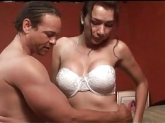 Thick dude gets his dick sucked by a tranny tubes