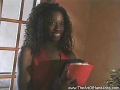 Ebony student handjob tubes