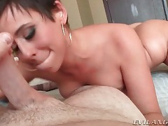 Slut licks all over his dick and balls in pov video tubes