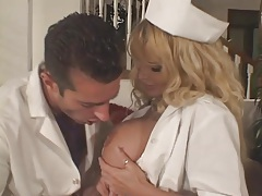 Huge tits nurse in white stockings fucked tubes