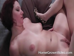 Amateurs warm up pussies with toys and share a dildo tubes