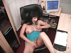Cucumber fucks the asshole of a curvy shemale tubes