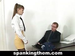 Spanked secretary tube