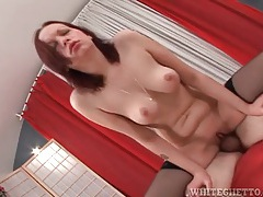 Fucking tight shaved pussy and cumming hard tubes
