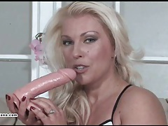 Sexy milf lana cox gives cock deep throat and takes cum in face tubes