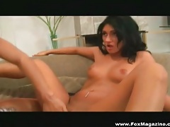 Ladies with lovely dark hair have hot dildo sex tubes