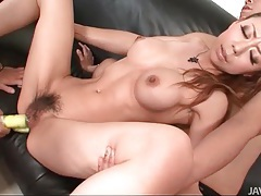 Turned on japanese beauty fucked in a spit roast tubes