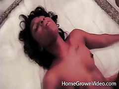 Young black amateur takes creampie in her cunt tubes