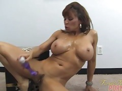 Devon michaels and her big purple toy tubes