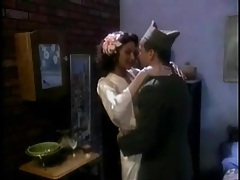 Soldier and his sexy lady in lingerie have oral sex tubes