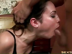 Amber rayne deepthroat blowjob with gagging tubes